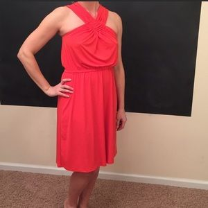 New with tags the limited orange halter neck dress